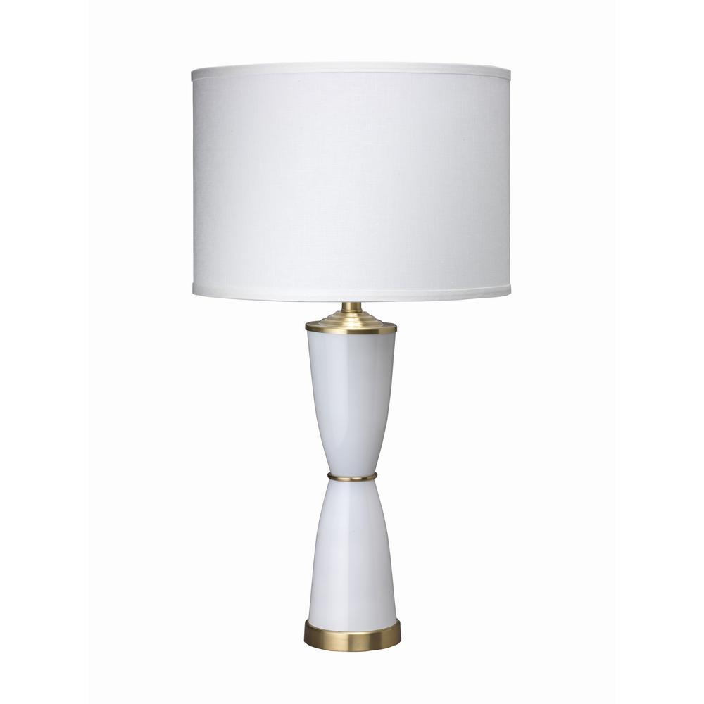 31 in. White Lido Table Lamp with Shade