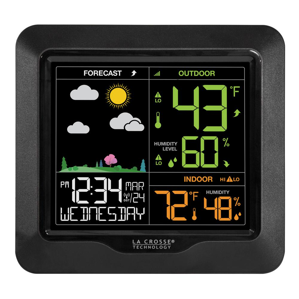 Wireless Digital Color Forecast Station with Alerts