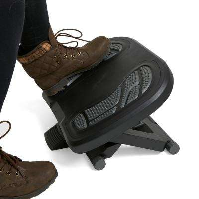Black and Gray Adjustable Height Non-Slip Ergonomic Foot Rest