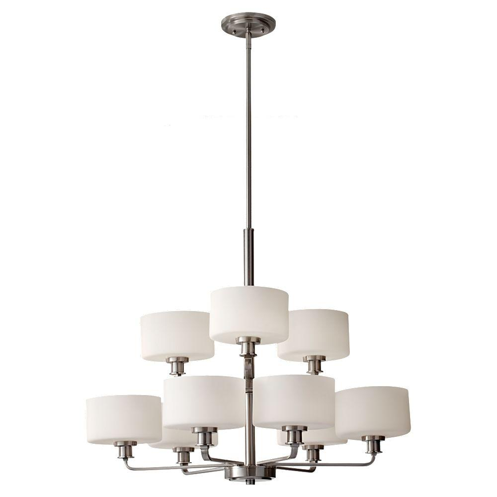 Finishing touch stretch bell plaid dupione silk chandelier shade kincaid 9 light brushed nickel chandelier shade arubaitofo Gallery
