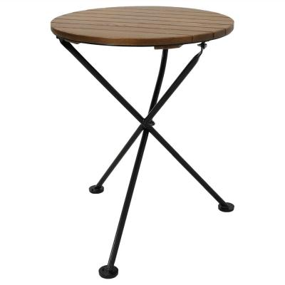 24 in. Round French Country European Chestnut Wood Round Bistro Table