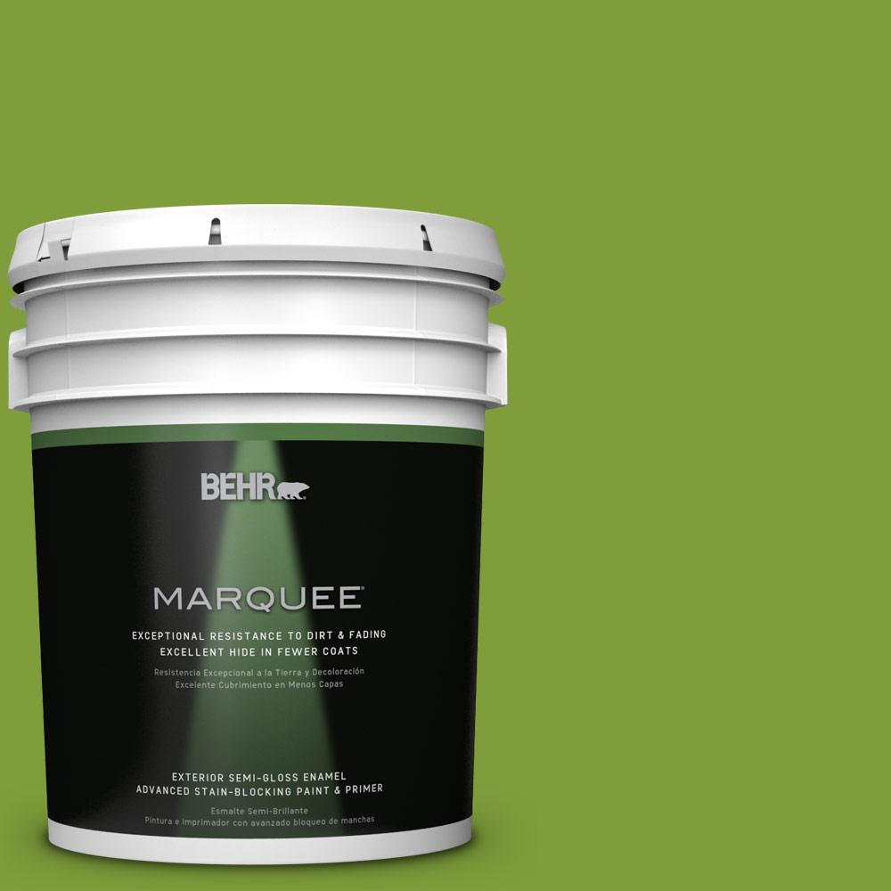 BEHR MARQUEE 5-gal. #T14-18 New Shoot Semi-Gloss Enamel Exterior Paint