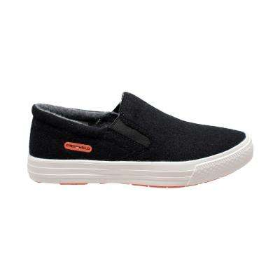 Women's Size 8 Black Wool Slip-On Casual Shoes
