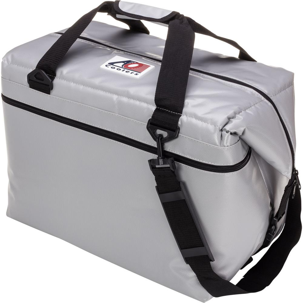 56 Qt. Soft Vinyl Cooler with Shoulder Strap and Wide Outside