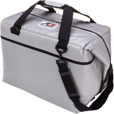 56 Qt. Soft Vinyl Cooler with Shoulder Strap and Wide Outside Pocket