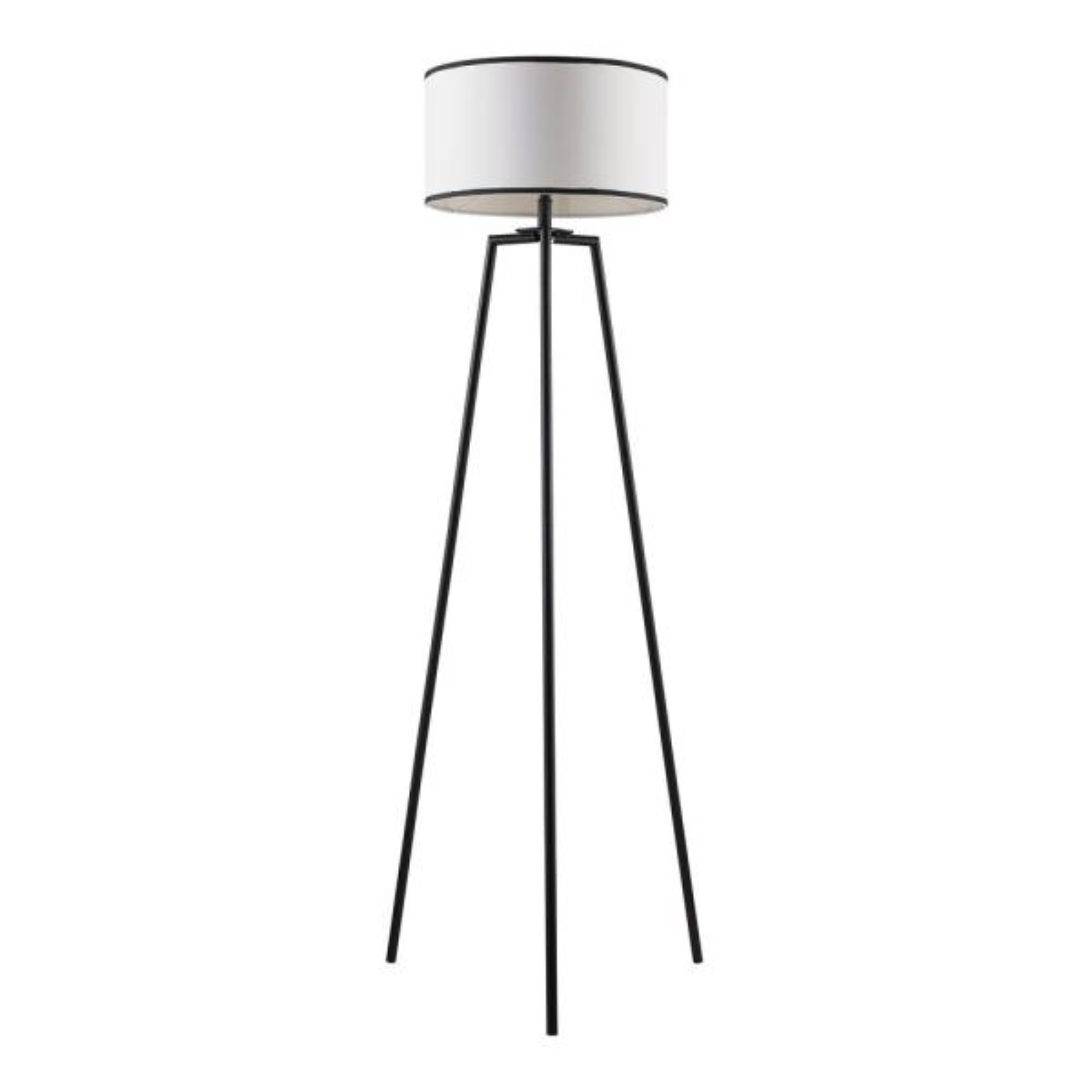 62 in. Baker Black and White Floor Lamp