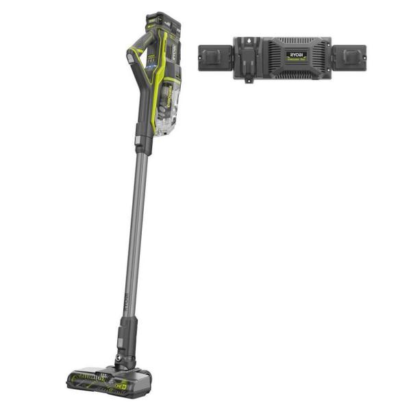 ONE+ 18V Brushless Cordless Stick Vacuum Kit with 4.0 Ah Lithium-Ion High Capacity Battery, EVERCHARGE Rapid Charger