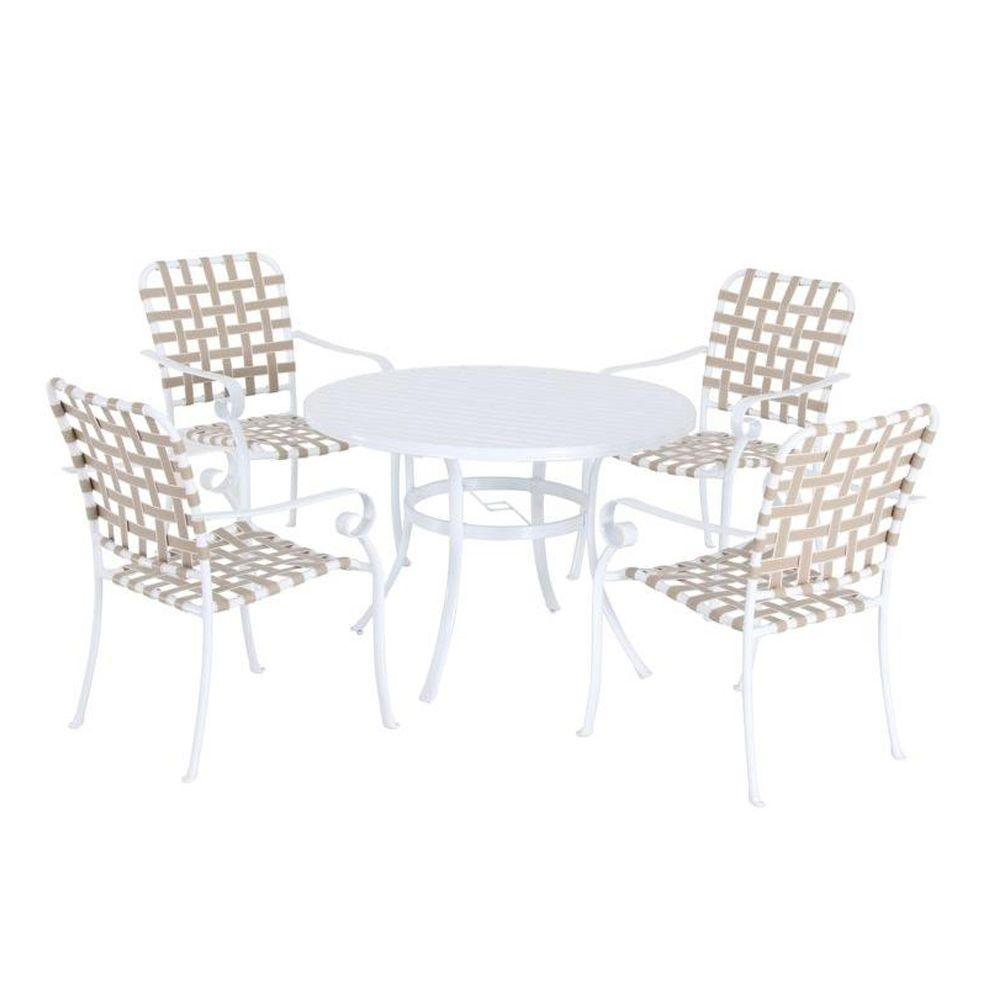 Hampton Bay Summerville 5-Piece Patio Dining Set in Taupe-DISCONTINUED