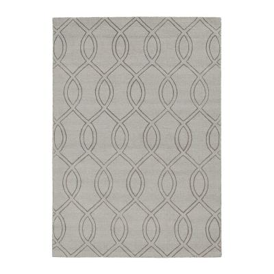 HomeRoots Bernadette Taupe 5 ft. x 7 ft. Abstract Polyester Area Rug, Brown