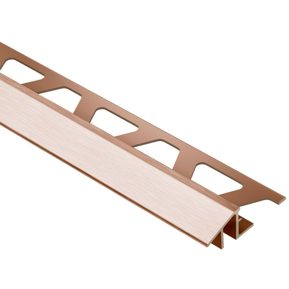 Reno-TK Brushed Copper Anodized Aluminum 1/2 in. x 8 ft. 2-1/2