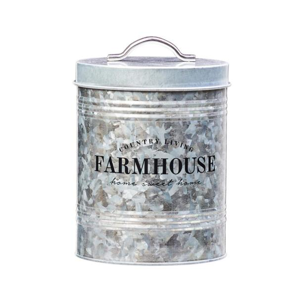 Amici Home Farmhouse 76 oz. Metal Storage Canister with Galvanized 7CDI029R