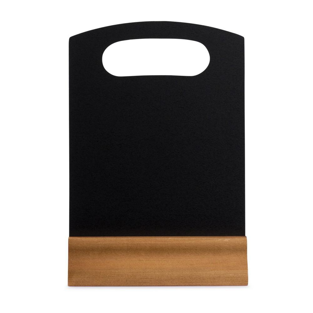 9 in. x 5 in. Black Wood Table Top Board Sign