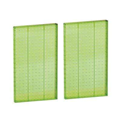22 in H x 13.5 in W Pegboard Green Styrene One Sided Panel (2-Pieces per Box)