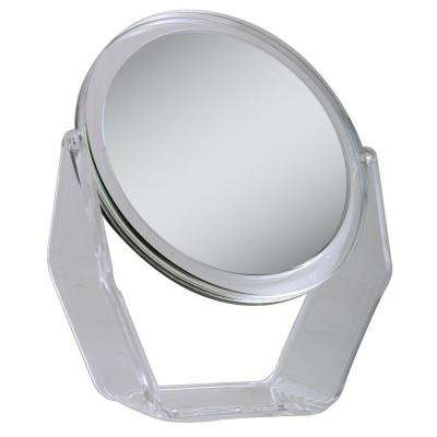 7.25 in. x 8.5 in. 1X/5X Magnification Vanity Makeup Mirror in Acrylic