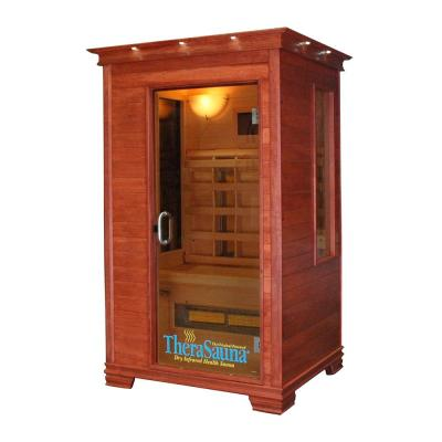 2-Person Infrared Health Sauna with MPS Touchview Control, Aspen Wood and 8 TheraMitter Heaters