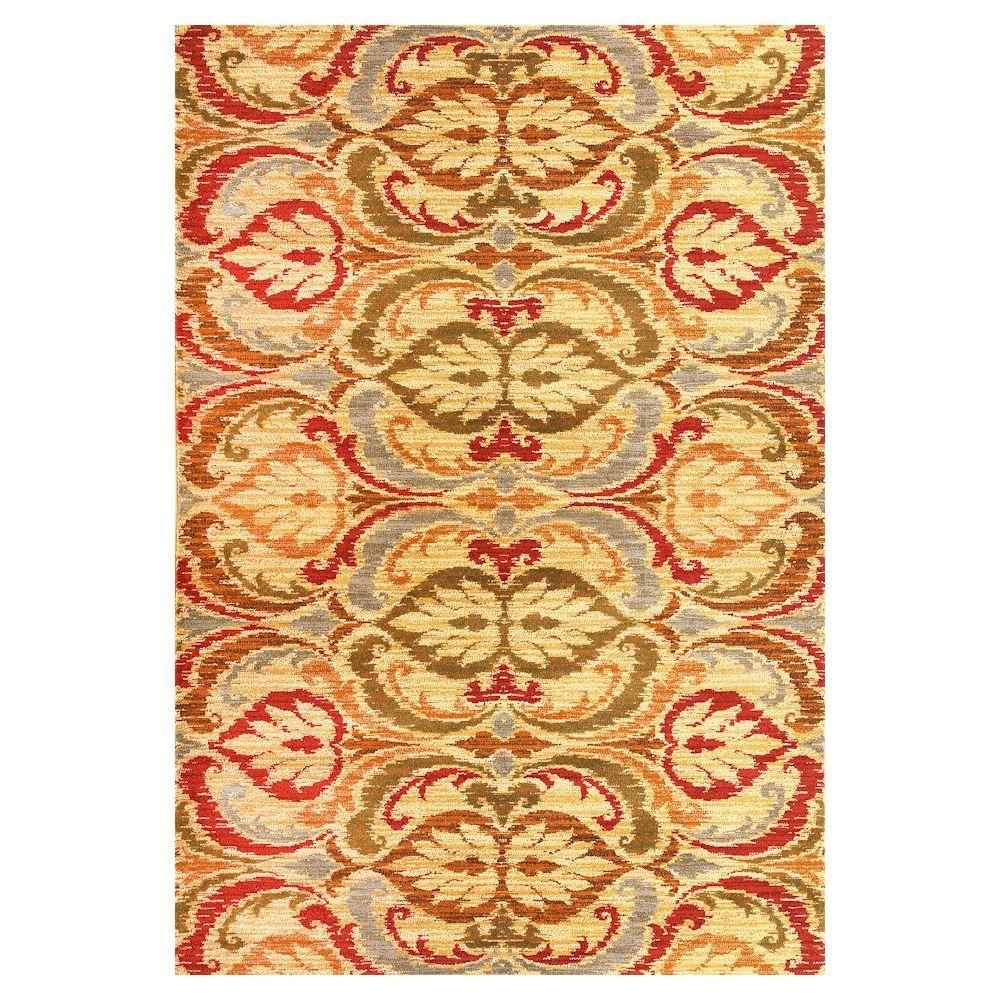 Kas Rugs Tapestry Leaf Gold 5 ft. x 8 ft. Area Rug With the Kas Rugs 5 ft. x 8 ft. Area Rug, you can provide a new style to any setting. This rug is made with stain-resistant fabrics and has fade-resistant materials. It has an oriental print, so you can upgrade the feel of your home with a classic sophistication. Crafted with multi-colored elements, it is perfect if you are looking to illuminate your decor with a fun and bright staple. It features a 100% polypropylene design, making it a durable option with impressive longevity. Color: Gold.
