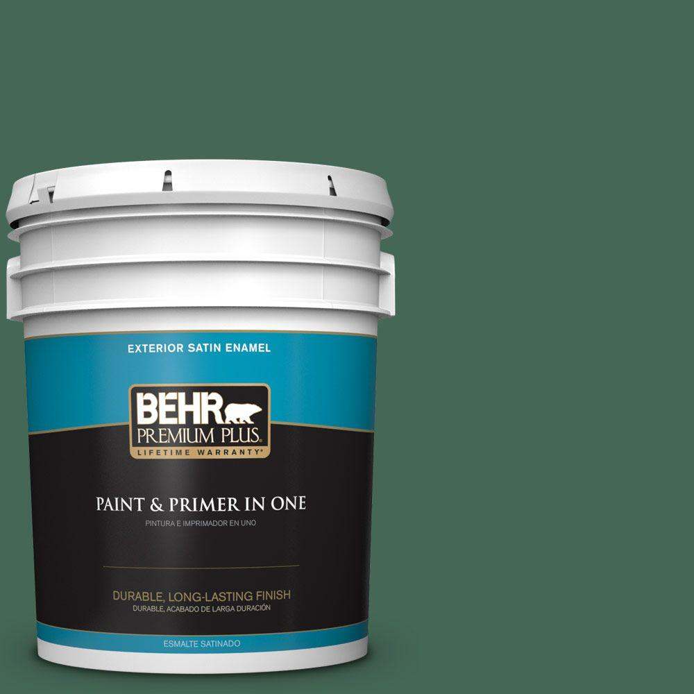 5-gal. #M420-7 Billiard Green Satin Enamel Exterior Paint