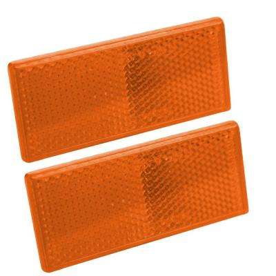 Reflector 3-1/8 in. Self Mount Rectangular Amber (2 per Pack)