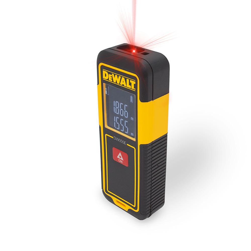 Dewalt laser distance measurer dw055e the home depot - Laser mesure distance ...