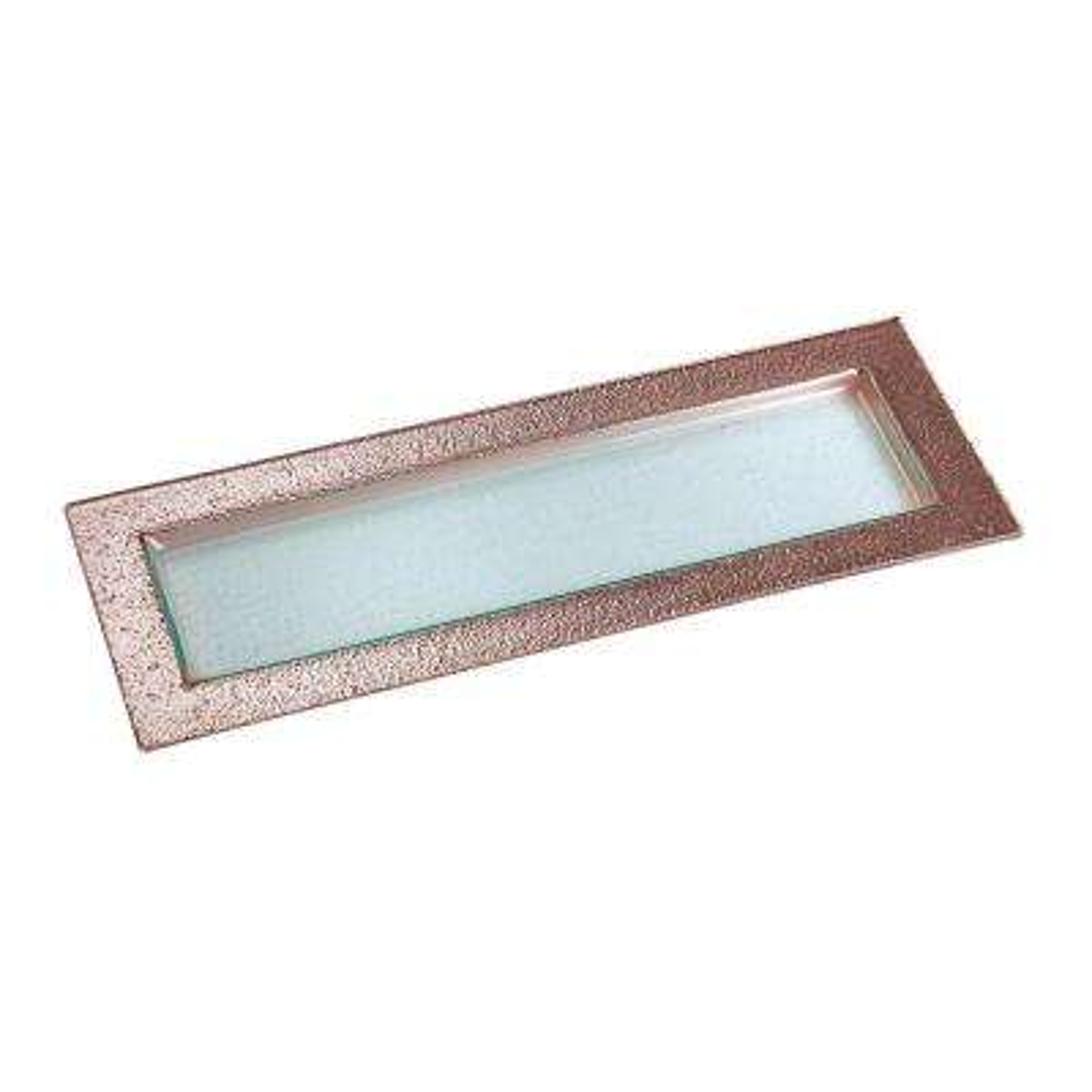 19.5 in. Studio Rose Gold Glass Appetizer Sercing Platter