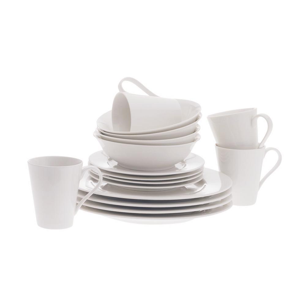 White Basics Cosmopolitan Dinner Set 16-Piece Gift Boxed