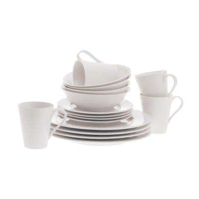 White Basics Cosmopolitan Dinner Set 16-Piece Gift Boxed