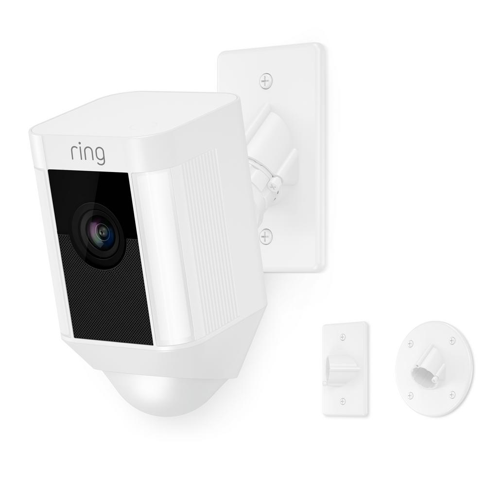 Spotlight Cam Mount Outdoor Smart Surveillance Camera, White