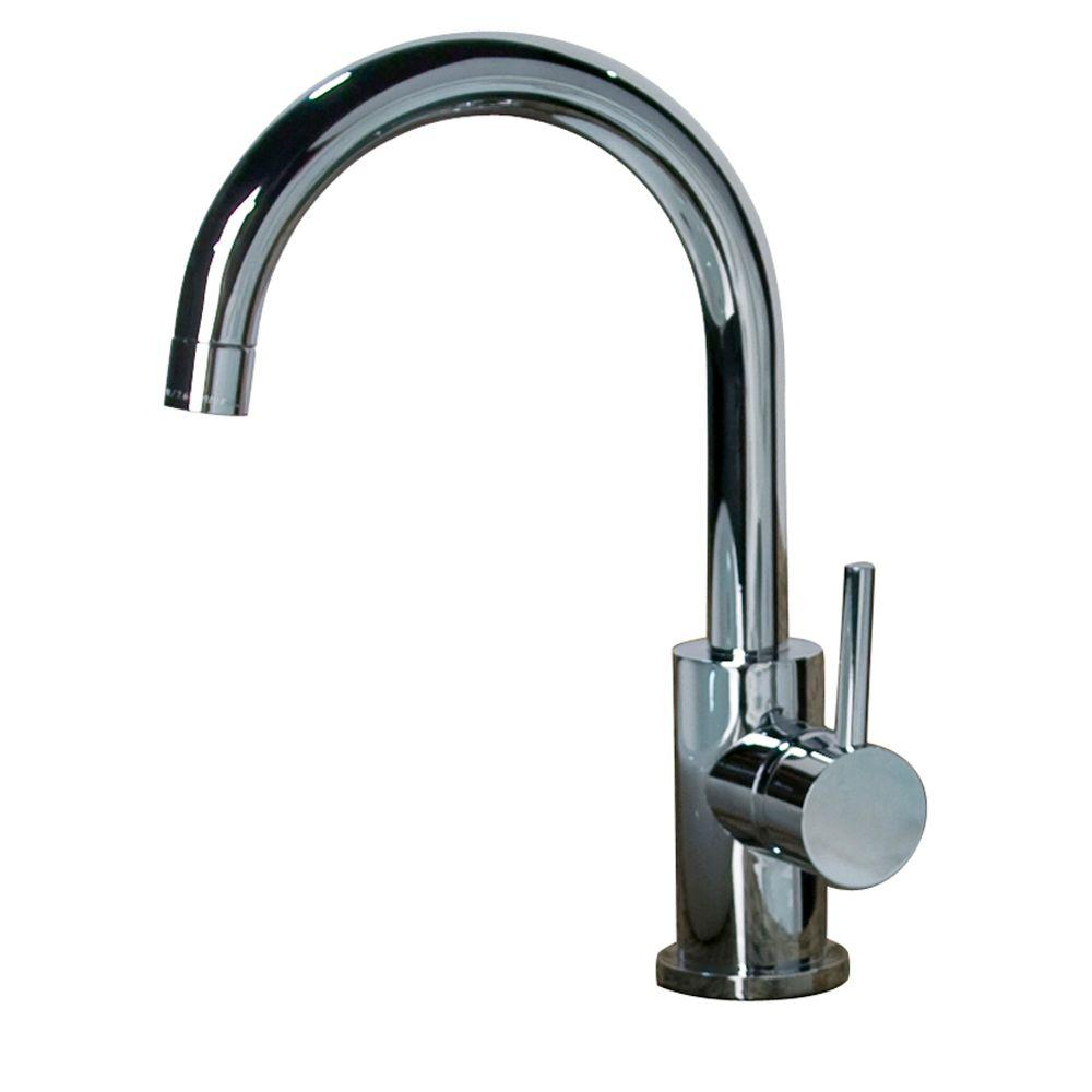 Barclay Products Spencer Single Hole 1-Handle High-Arc Bathroom Faucet in Chrome-DISCONTINUED