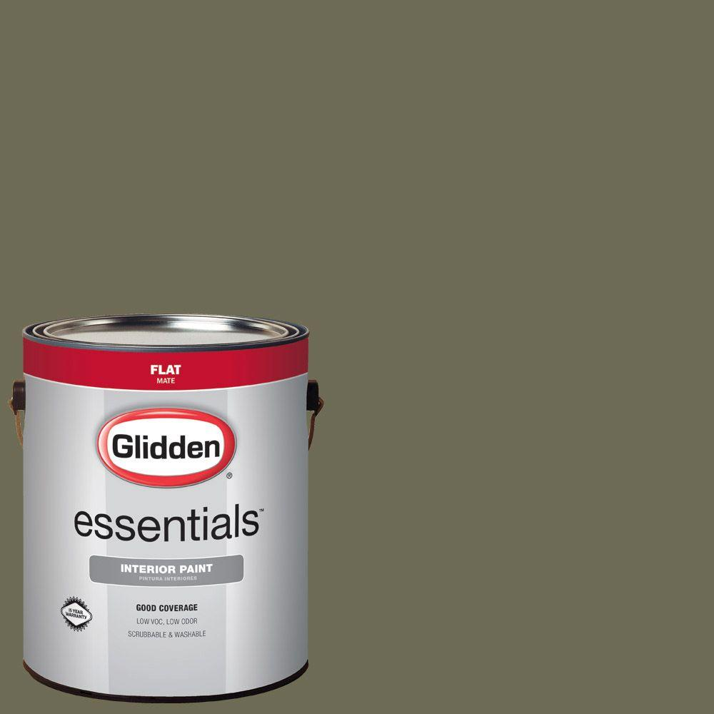 Hdgg26 Olive Green Flat Interior Paint