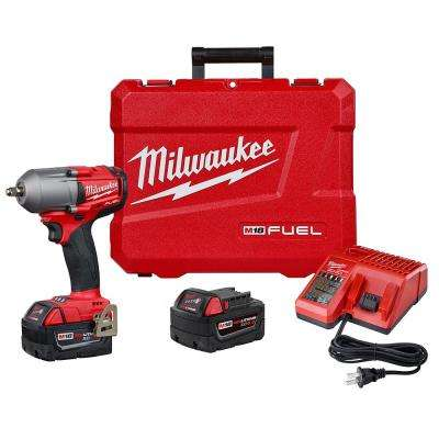 M18 FUEL 18-Volt Lithium-Ion Mid Torque Brushless Cordless 3/8 in. Impact Wrench W/ Friction Ring W/(2) 5.0Ah Batteries