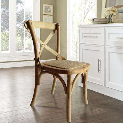 Children's X Back Natural Dining Chair (Set of 1)