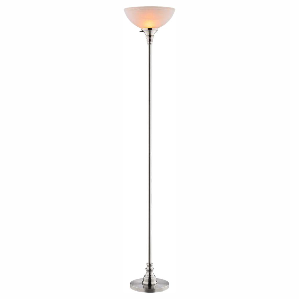 Hampton Bay Bolton 70 5 In Brushed Nickel Torchiere Lamp