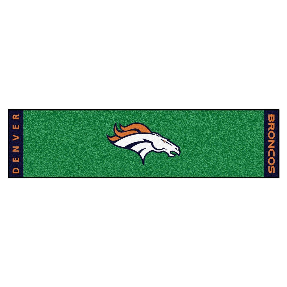 FANMATS NFL Denver Broncos 1 ft. 6 in. x 6 ft. Indoor 1-Hole Golf ...