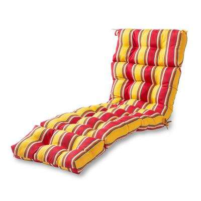 Carnival Stripe Outdoor Chaise Lounge Cushion