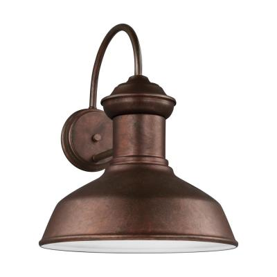 Fredricksburg Weathered Copper Outdoor 15.875 in. Integrated LED Wall Lantern Sconce
