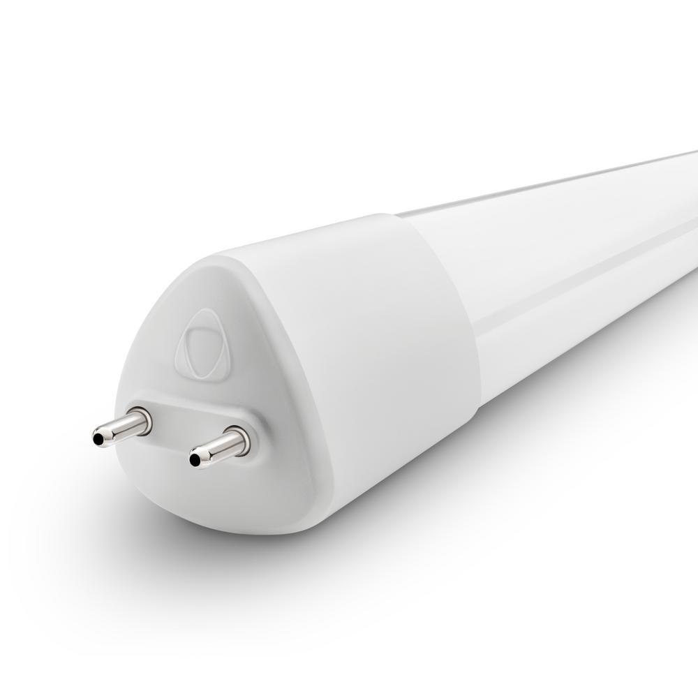 8-Watt 24 in. Linear Dimmable T8 LED Tube Light Bulb Soft White (3000K) (1-Bulb)