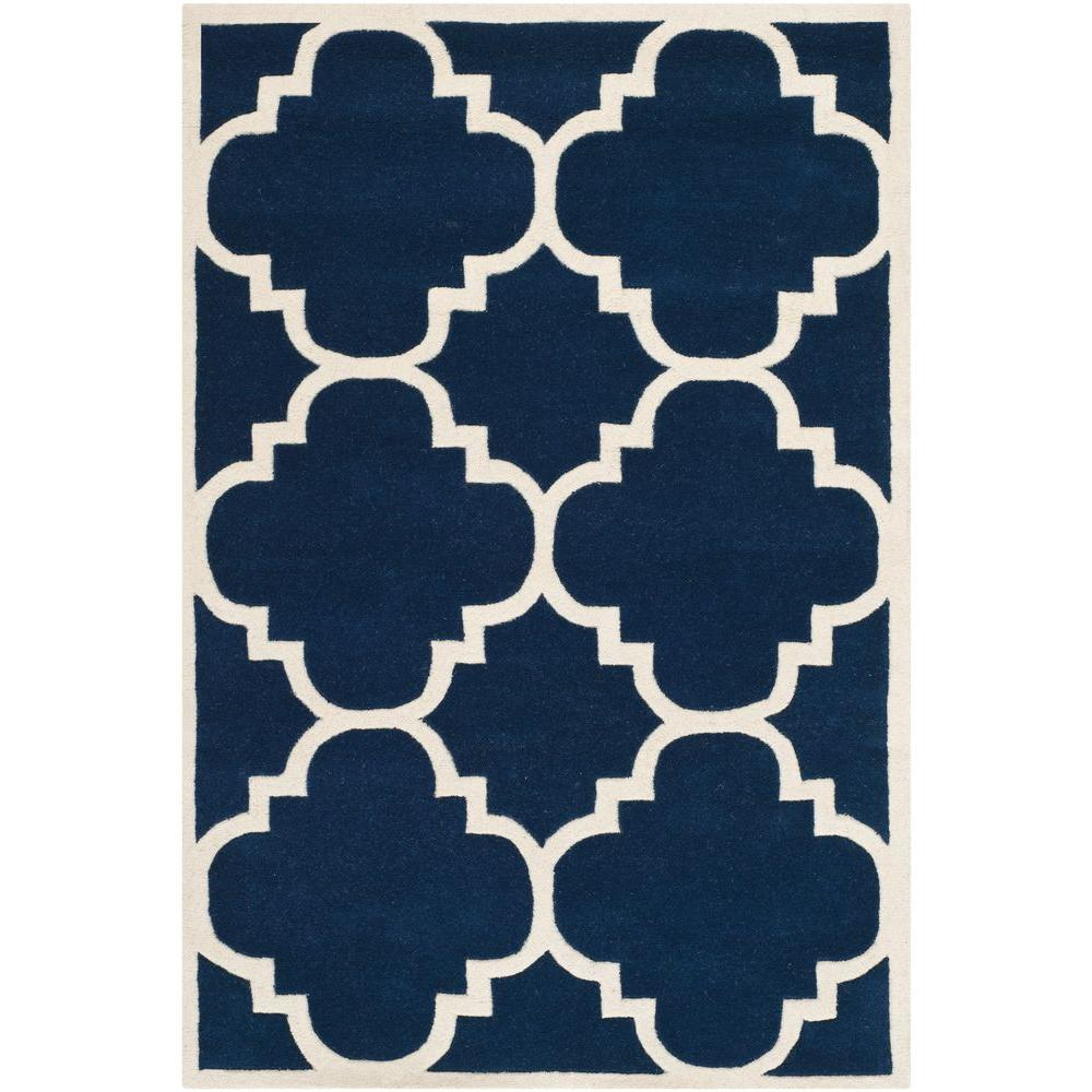 Safavieh Chatham Dark Blue/Ivory 4 ft. x 6 ft. Area Rug