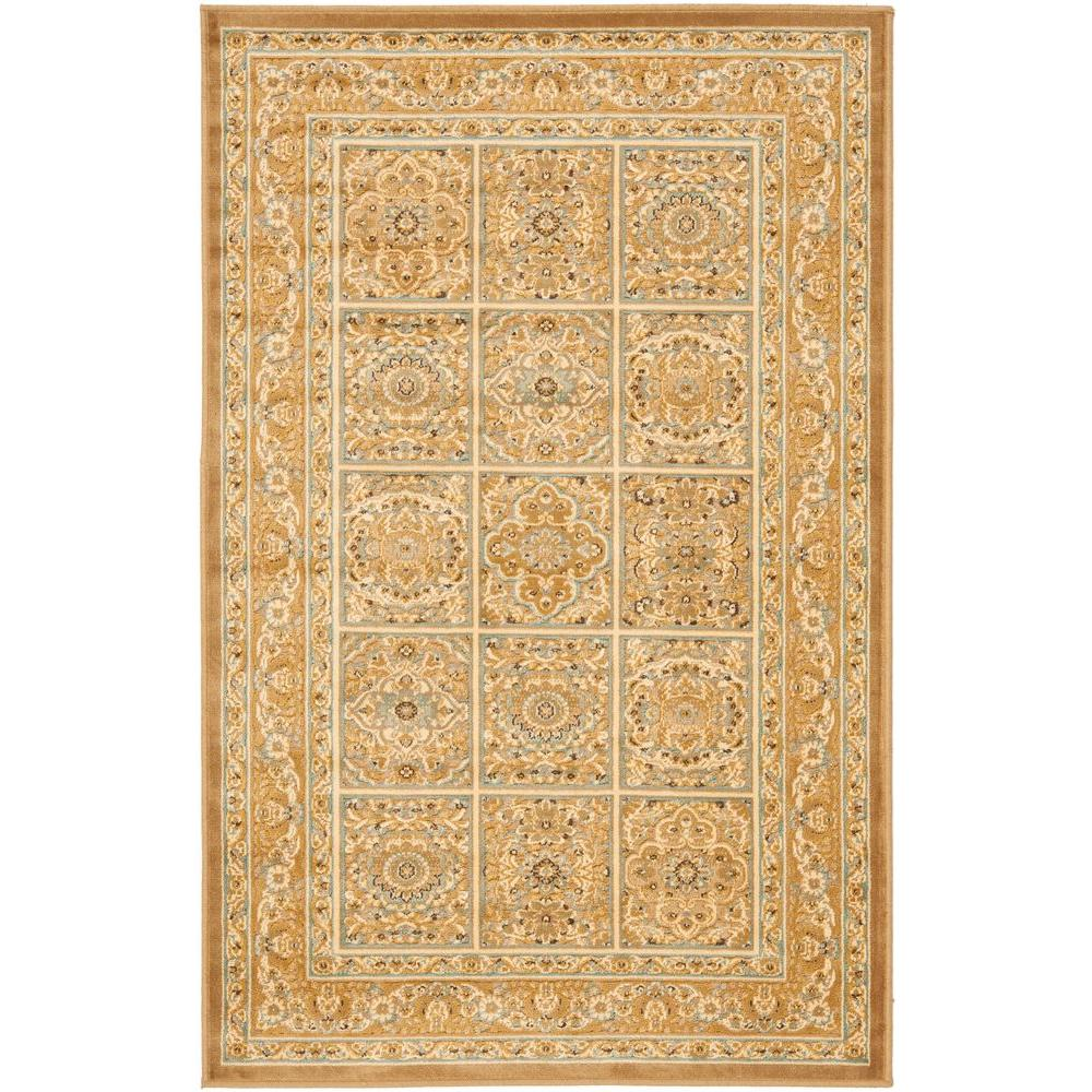 Paradise Beige 2 ft. 7 in. x 4 ft. Area Rug