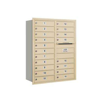 3700 Horizontal Series 19-Compartment Recessed Mount Mailbox