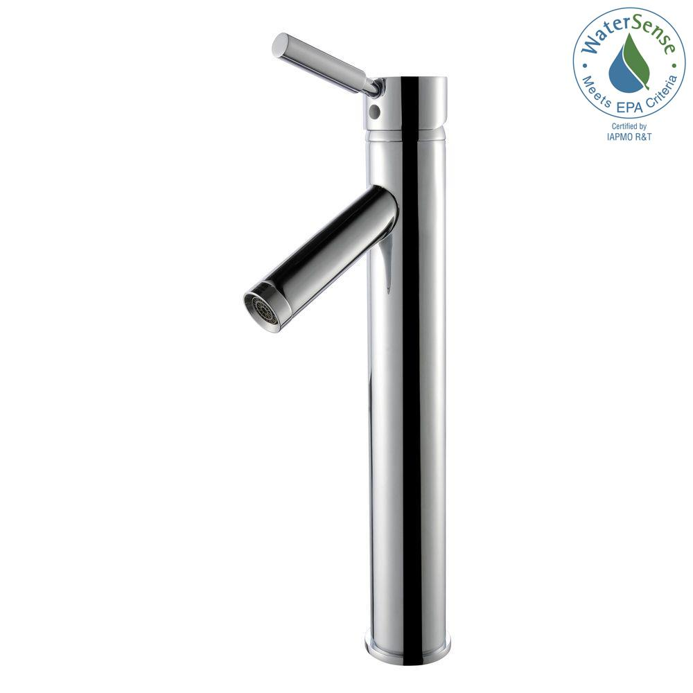 Sheven Single Hole Single-Handle Vessel Bathroom Faucet in Chrome