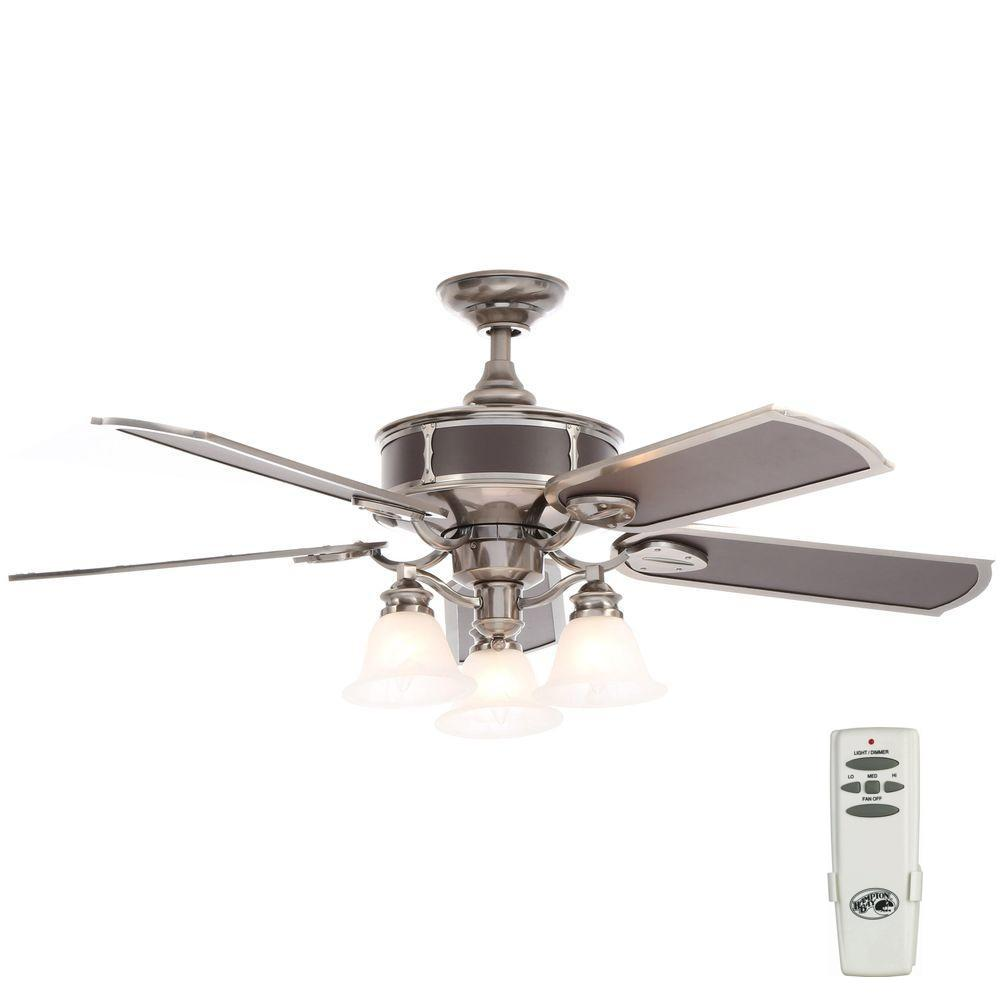 Preston 52 in. Indoor Vintage Pewter Ceiling Fan with Light Kit