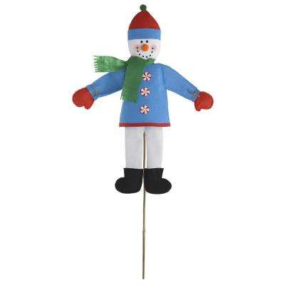 Friendly Snowman 47 in. Christmas Yard Sign (2-Pack)