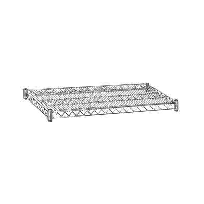 36 in. W x 2 in. H x 18 in. D Shelf Wire Chrome Finish Commercial Shelving Unit