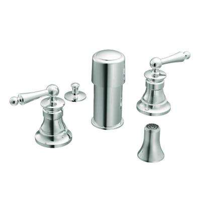 Waterhill 2-Handle Bidet Faucet in Chrome