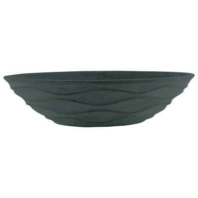 Urban Wave 15-1/2 in. x 6 in. Gray Cement Bowl