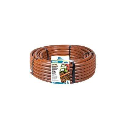 Earthline Brown PC 100 ft. 1 GPH, Pressure Compensating Drip Line with 18 in. Spacing