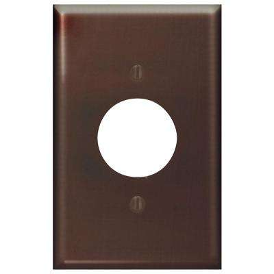 1-Gang 1 Single Receptacle, Midway Size Plastic Wall Plate - Brown