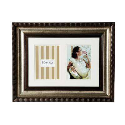20 in. x 16 in. Bronze 2-Opening Collage Picture Frame