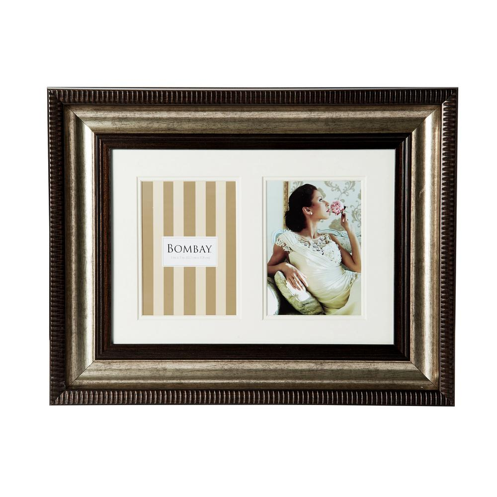 Bombay 20 in. x 16 in. Bronze 2-Opening Collage Picture Frame ...