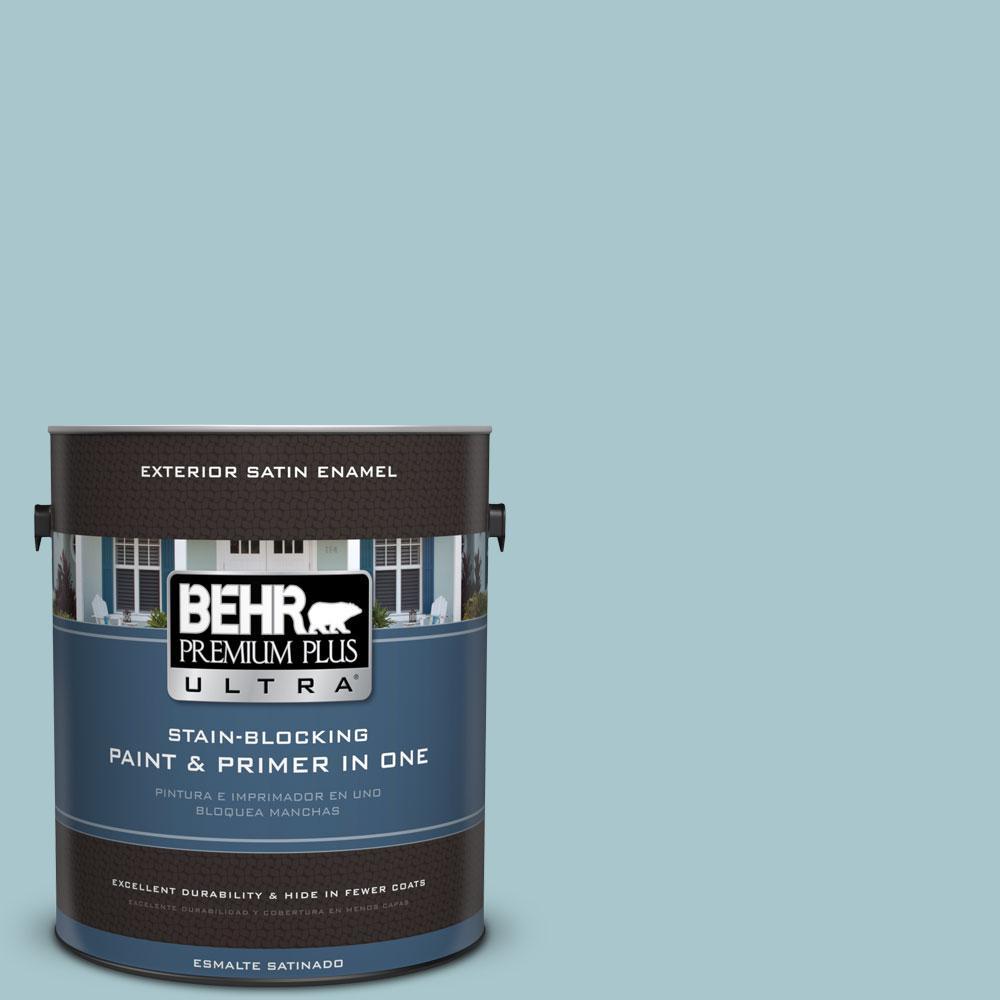BEHR Premium Plus Ultra 1-gal. #S450-3 Spring Storm Satin Enamel Exterior Paint